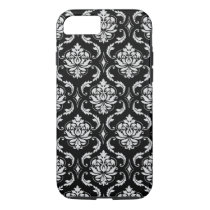 Classic Black and White Floral Damask Pattern iPhone 8/7 Case