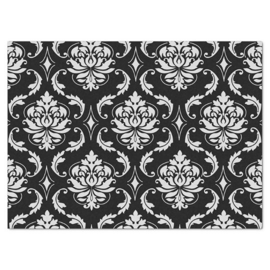 Checkered Black And White Tissue Paper Zazzle Com