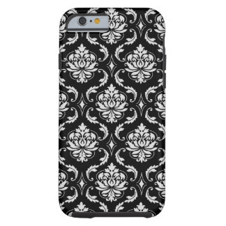 Classic Black and White Floral Damask Pattern Tough iPhone 6 Case