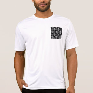 Classic Black and White Floral Damask Pattern Tee Shirts