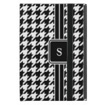 Classic Black and White Houndstooth Monogram Cover For iPad Mini