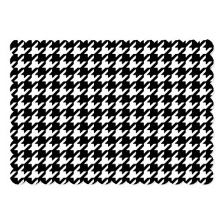 Classic Black and White Houndstooth Pattern 5x7 Paper Invitation Card