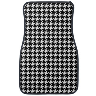 Classic Black and White Houndstooth Pattern Car Mat