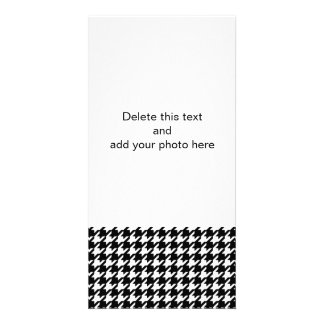Classic Black and White Houndstooth Pattern Card