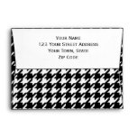 Classic Black and White Houndstooth Pattern Envelope