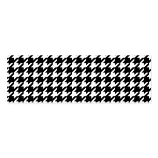 Classic Black and White Houndstooth Pattern Mini Business Card
