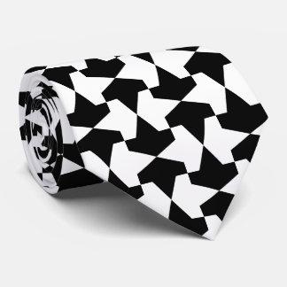 Classic Black and White Mamluks Pattern Neck Tie