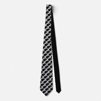 Classic Black and White Pineapple Pattern Tie