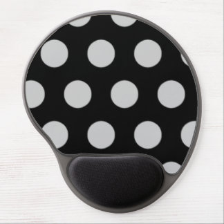 Classic Black and White Polka Dot Mouse Pad