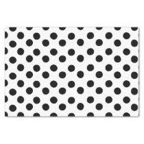 Classic Black and White Polka Dot Tissue Paper