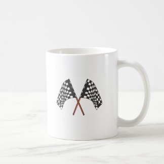 Classic black and white Racing Flag Coffee Mug