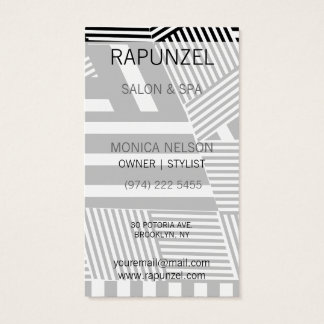 Classic Black and White Stripe Business Card