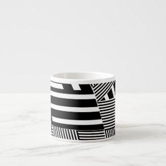 Classic Black and White Stripe Espresso Cup