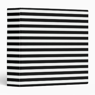 Classic Black and White Stripe Pattern Binder