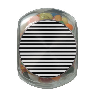 Classic Black and White Stripes Jelly Belly Candy Jars