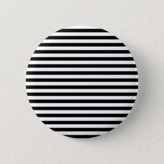 Classic Black and White Stripes Pinback Button