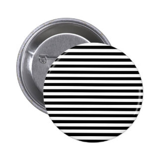 Classic Black and White Stripes Pinback Button