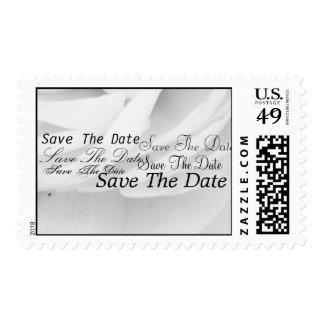 Classic Black and White Wedding Stamp