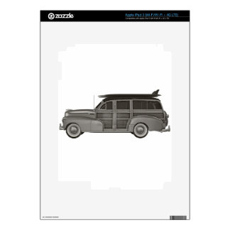 Classic Black and White Woody Skin For iPad 3