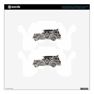 Classic Black and White Woody Skin For PS3 Controller