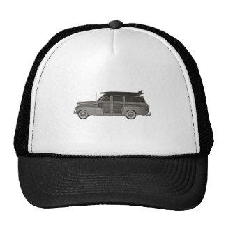 Classic Black and White Woody Trucker Hat