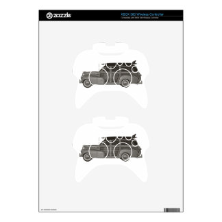 Classic Black and White Woody Xbox 360 Controller Decal