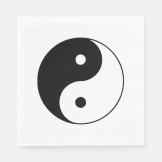 Classic Black and White Yin and Yang Napkin