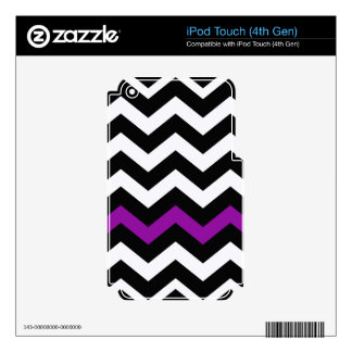 Classic Black and White Zigzag With Purple iPod Touch 4G Decal