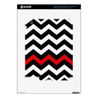 Classic Black and White Zigzag With Red Skins For iPad 3
