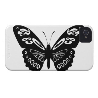 Classic Black Butterfly Lace Wings iPhone 4s Cover iPhone 4 Cover