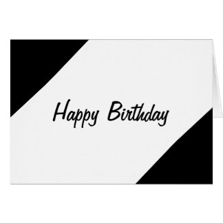 Classic black greeting cards