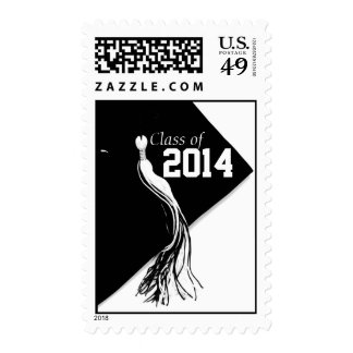 Classic Black Class of 2014 Postage