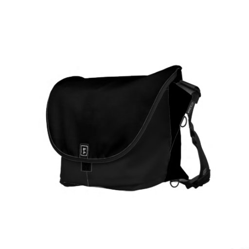 Classic Black Courier Bag
