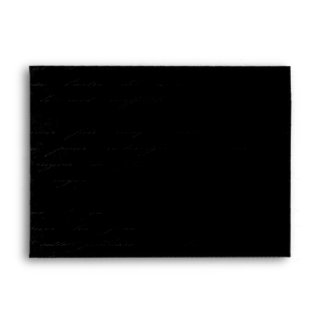 Classic Black Damask: Custom Linen Wedding A-7 Envelope