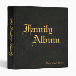 Classic Black Faux Leather & Gold Family Album Vinyl Binders