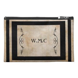 Classic Black Frame Monogram Travel Accessory Bag