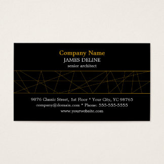 Classic Black Gold Architect Business Card