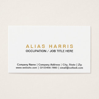 Classic Black ~ Gold Business Card