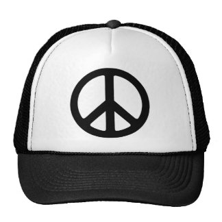 Classic Black Groovy Peace Symbol Trucker Hat
