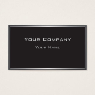 Classic Black Highlighted Border Business Card