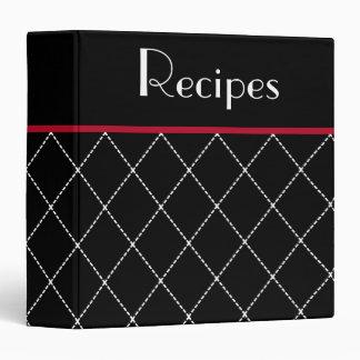 Classic Black Kitchen Recipe Organizer Binder Gift