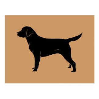 Classic Black Labrador Retriever Silhouette Postcard