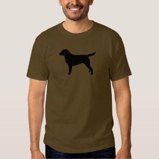 Classic Black Labrador Retriever Silhouette T Shirt