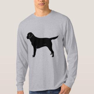 Classic Black Labrador Retriever Silhouette Tshirt