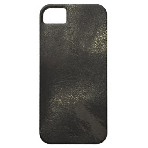 Classic Black Leather Case (iPhone 5)