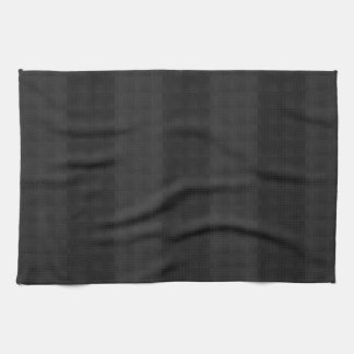 Classic Black on Black Stripes Hand Towel