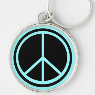 Classic Black Peace Sign Keychain