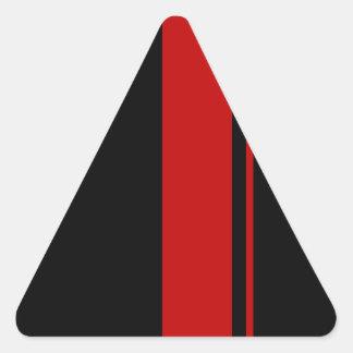 Classic Black & RED Race Car Stripes Triangle Sticker