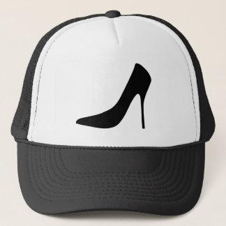 CLASSIC BLACK STILETTO TRUCKER HAT