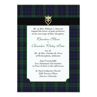 Classic Black Watch Tartan Wedding Invitation